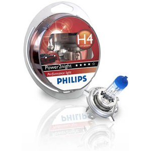 POWER2NIGHT : Ampoules phares Phillips POWER2NIGHT : Effet bleut� phares �teints